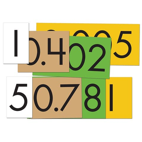 (6 Pk) 4-Value Decimals To Whole Number Place Value Cards Set