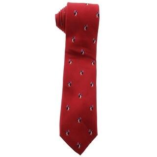 Tommy Hilfiger Mens Penguin Club Silk Classic Neck Tie - o/s