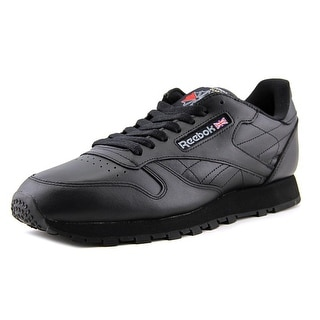 Reebok Reebok Classic Men  Round Toe Leather Black Sneakers