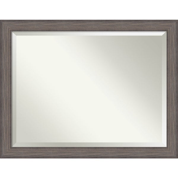 Bathroom Mirror Oversize Large, Country Barnwood 46 x 36-inch - 35.25 x 45.25 x 0.741 inches deep. Opens flyout.