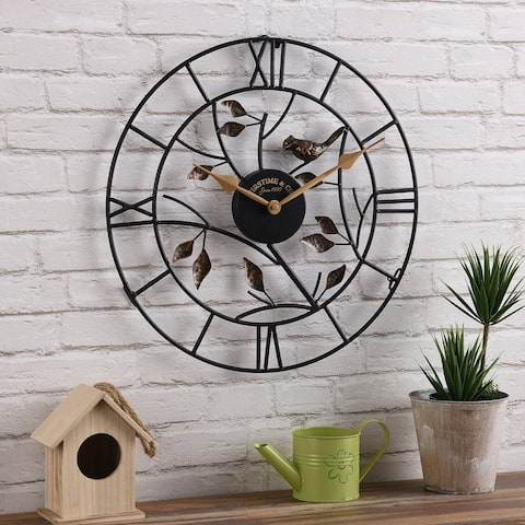 FirsTime & Co.® Treetop Bird Outdoor Clock, American Crafted, Oil Rubbed Bronze, Metal, 18 x 1.5 x 18 in - 18 x 1.5 x 18 in