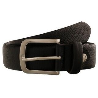 Renato Balestra FLAVIO Black Leather Mens Belt