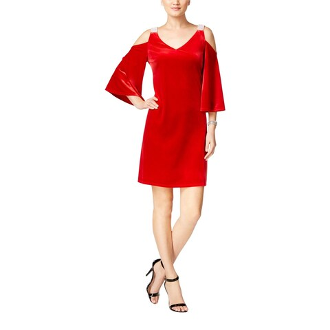 MSK Womens Cocktail Dress Velvet Rhinstone