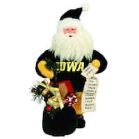 "10"" NCAA Iowa Hawkeyes Gift Bearing Santa Claus Christmas Table Top Figure"