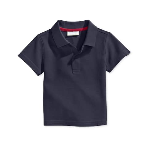 First Impressions Boys SL Rugby Polo Shirt, Blue, 3-6 mos - 3-6 mos