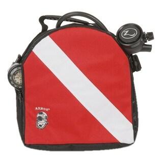 """Armor Dive Flag Regulator Large Bag 12"""" x 12"""" Red/Black"""