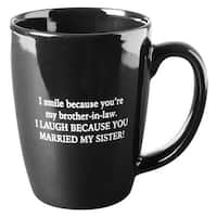 I Smile Because You're My Brother-In-Law Funny Mug - Black Ceramic