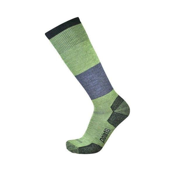 Point6 Unisex Snowboard Merino Wool Over the Calf Sock 1-Pair - Medium