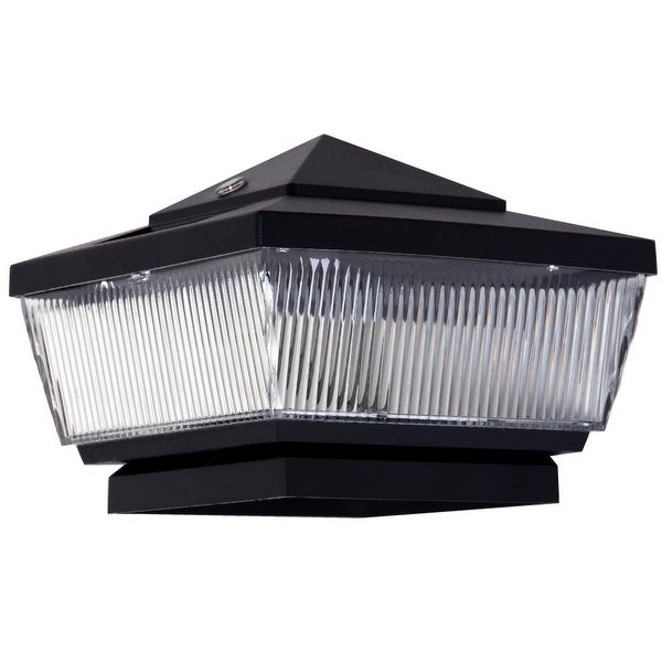 Boston Harbor QPP3-R4-BK-B1 Solar Post Cap, 4 Lumen, Black
