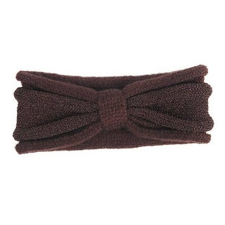 Mad Style Brown Glimmer Bow Headwrap