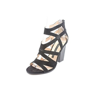 French Connection Isla Women Open Toe Suede Black Sandals
