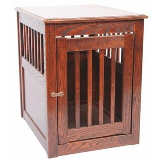 Dynamic Accents MedOakEndTable Furniture Style Dog Crate Mahogany