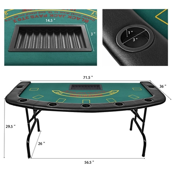 cupholders optional Full size Blackjack table top with,tray