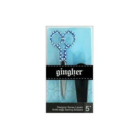 220282-1008 gingher 5 designer knife edge scissors lauren