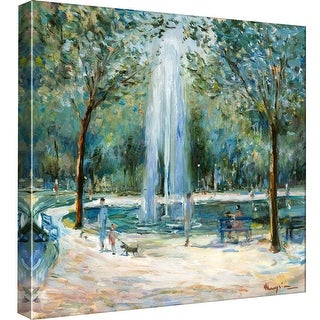 """PTM Images 9-97746  PTM Canvas Collection 12"""" x 12"""" - """"Parisian Afternoon III"""" Giclee Paris Art Print on Canvas"""