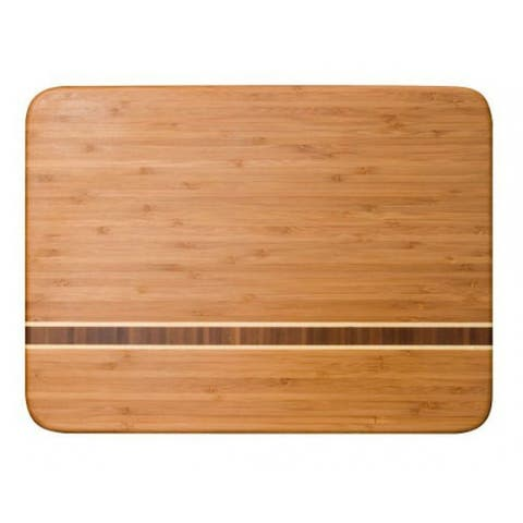 """Totally Bamboo 20-1830 Caribbean Collection Martinique Cutting Board, 15"""""""