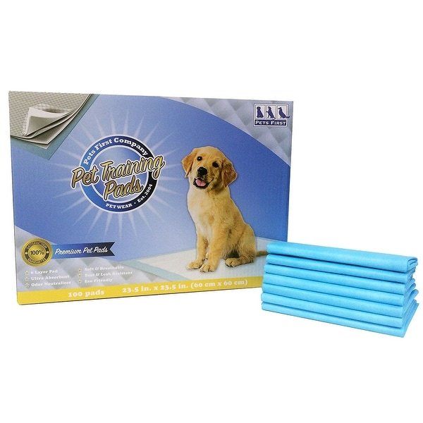 Pets First Premium Training Pads 2018 Version - MOST ABSORBENT Puppy Pads. 100 Count