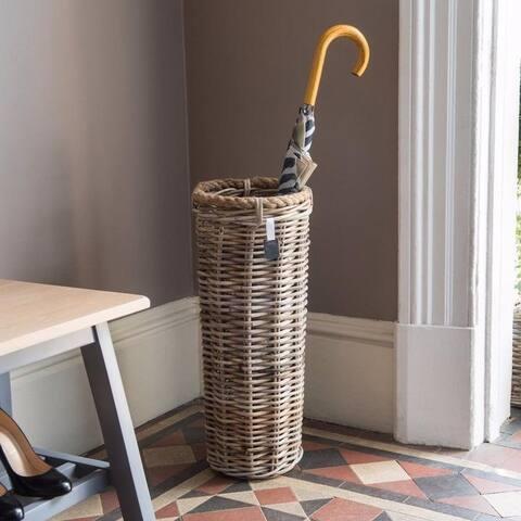 Key Largo Natural Grey Kubu Rattan Umbrella Basket Stand