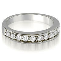 0.65 CT.TW Classic Prong-Set Round Cut Diamond  Wedding Ring in 14KT Gold - White H-I