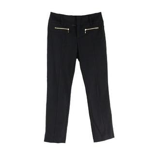 INC NEW Bright White Curvy-Fit Women's Size 8 Wide Leg Linen Pants
