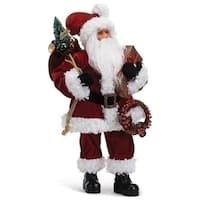 """19"""" Traditional Santa Figure with Gifts"""