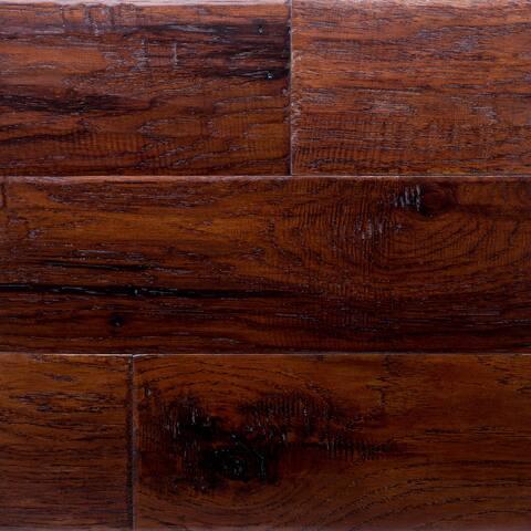 "Miseno MFLR-CABERNET-E Vineyard Engineered Hardwood Flooring - 5"" Planks (36.3 SF / Carton) - Hickory Cabernet"