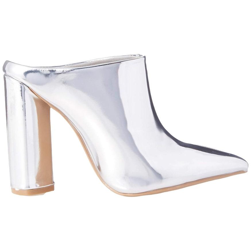 d8f70507b67cf Qupid Womens Miss-40 Pointed Toe Mules