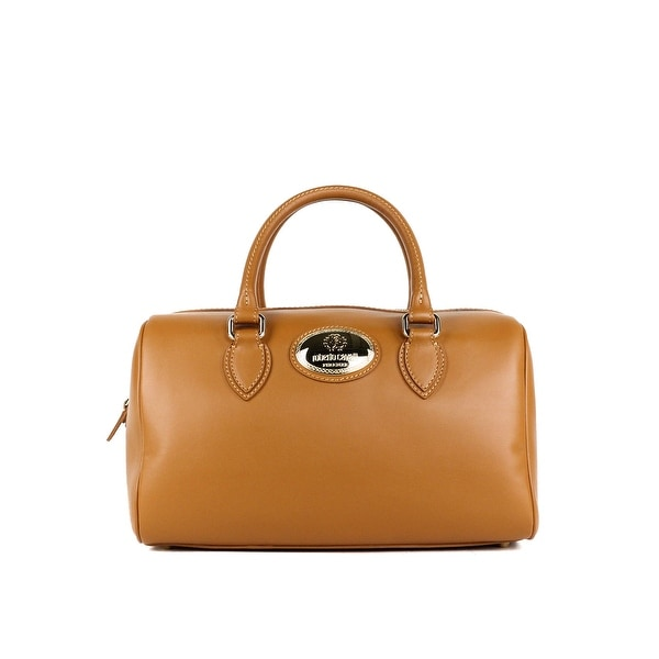 d07133bbb Roberto Cavalli Womens Firenze Brown Leather Duffle Satchel Bag~RTL$1295