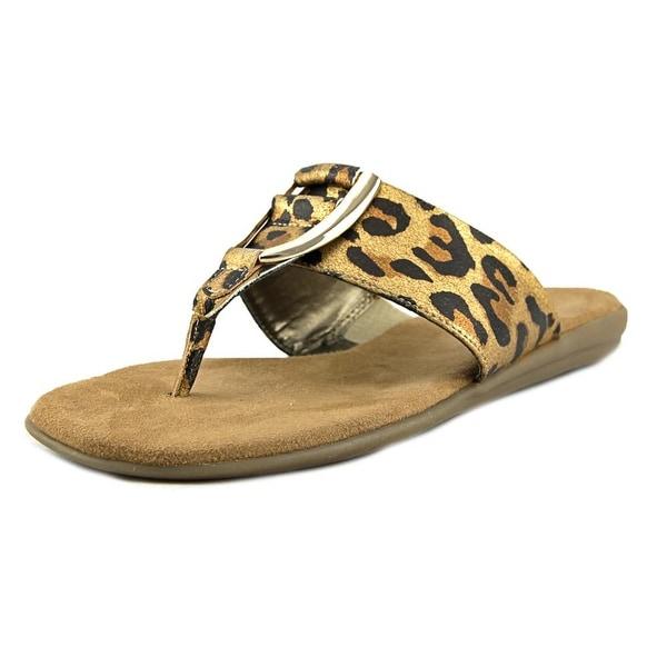 Aerosoles Nice Save Women Open Toe Synthetic Tan Thong Sandal