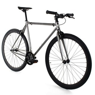 Fixed Gear - GOLDEN CYCLES Fixed Gear Bike Steel Frame Fixie with Deep V Rims - ASPHALT