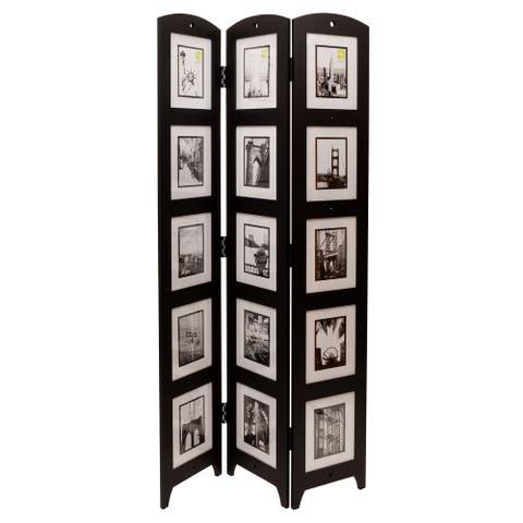 "kieragrace KG Photo 3-Panel Room Divider - Black - 33"" x 64.5"" x 0.65"""