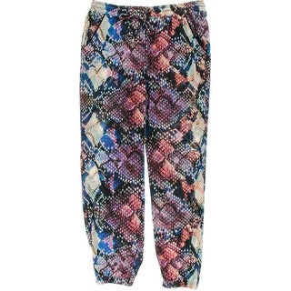 NY Collection Womens Matte Jersey Printed Jogger Pants - XL