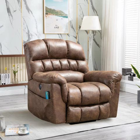 Oversized 42''Wide Cushion Back Power Lift Recliner with Massage
