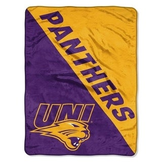 The Northwest 1COL 65901 0106 RET Northern Iowa Panthers Halftone Raschel Blanket