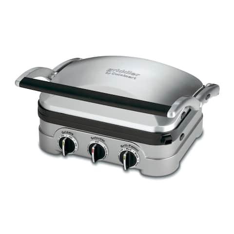 Cuisinart Griddler (Brushed Stainless Steel) (Refurbished)