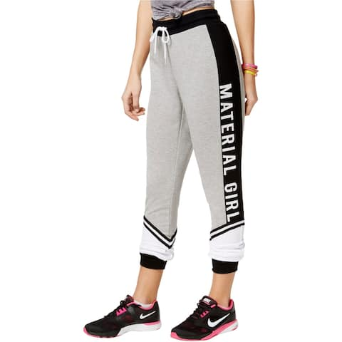 Material Girl Womens Colorblock Athletic Sweatpants, grey, XX-Large
