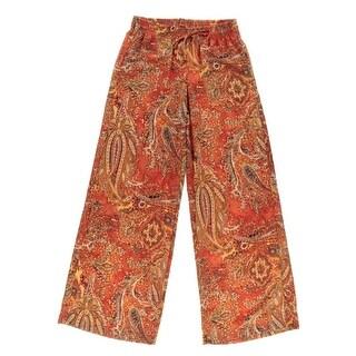 Lauren Ralph Lauren Womens Printed Casual Wide Leg Pants