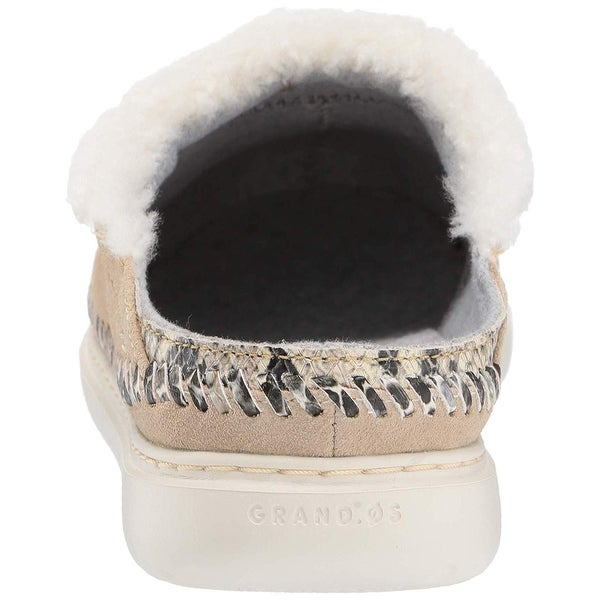 ZeroGrand Fur Closed Toe Slip