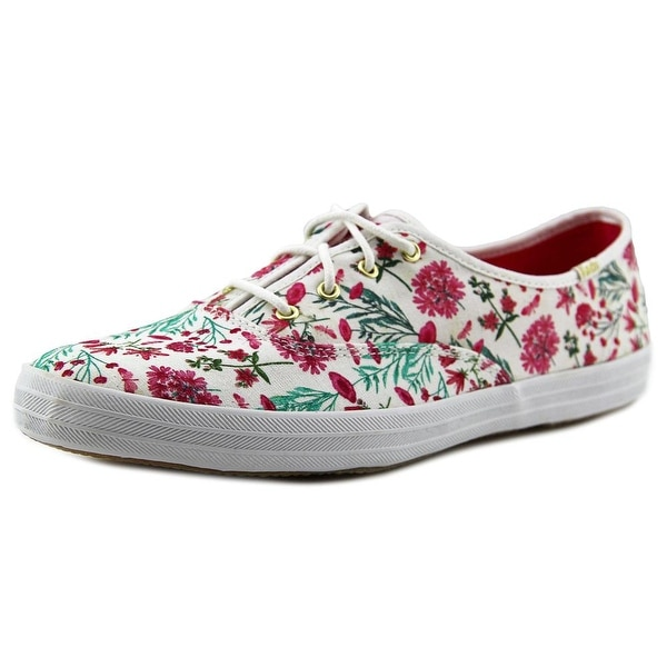 Keds Ch Garden Party Women Round Toe Canvas White Sneakers