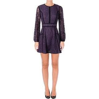 Juicy Couture Black Label Womens Leafy Cocktail Dress Lace Mini