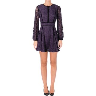 Juicy Couture Black Label Womens Leafy Cocktail Dress Lace Mini