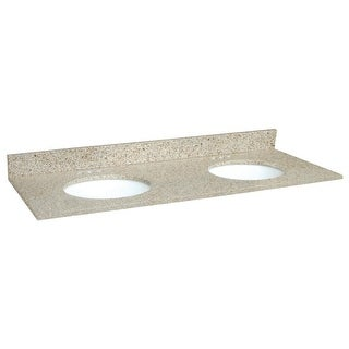 """Design House 553081 61"""" Vanity Top with Double Bowl from the Granite Collection"""