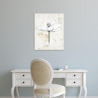 Easy Art Prints Avery Tillmon's 'Pencil Floral I Gold' Premium Canvas Art