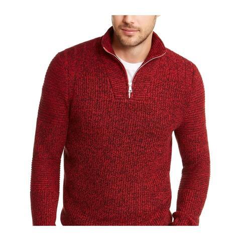 INC International Concepts Men's Quarter Zip Sweater Red Size 3XL - XXX-Large