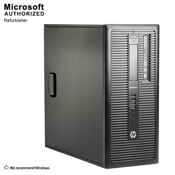 HP 600G1 TW Intel i3-4130 3.40GHz, 8GB RAM, 120GB SSD + 3TB HDD, DVD, WIFI, BT 4.0, HDMI Adapter, WIN10P64(EN/ES)-Refurbished