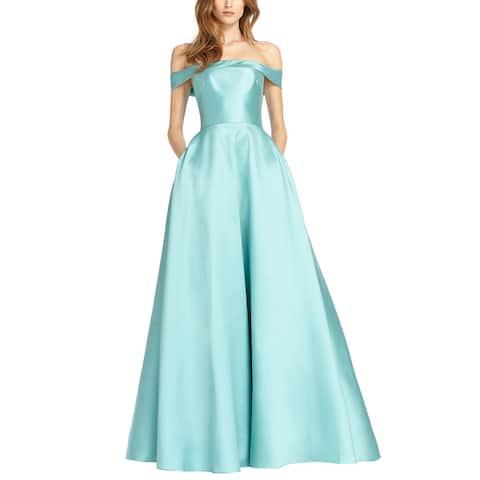 Ml Monique Lhuillier Off The Shoulder Gown