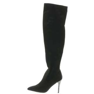 Nina Womens Rocklin Over-The-Knee Boots Faux Suede Embellished - 8 medium (b,m)