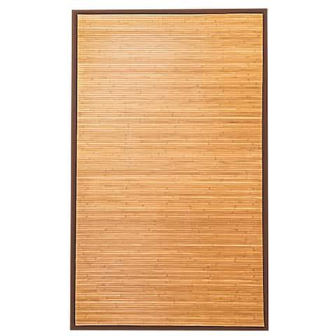 Costway 5' x 8' Bamboo Area Rug Floor Carpet Natural Bamboo Wood