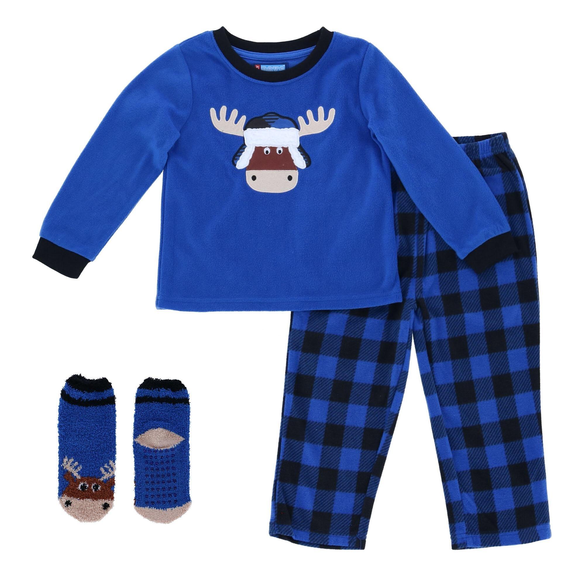 Emoji Pajamas Sz 2T 4T PJs Set Pants #Weekend Blue Orange Pizza Boys
