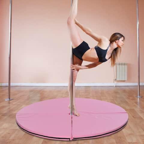 Soozier Pole Dance Mat Foldable Yoga Exercise Safety Dancing Cushion Crash Padding - Pink